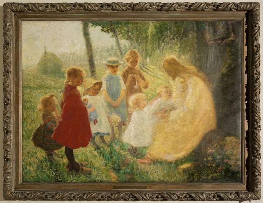 Laat de kinderen tot mij komen (1907) Frans Nackaerts (Kessel-Lo1884, Holsbeek 1948)