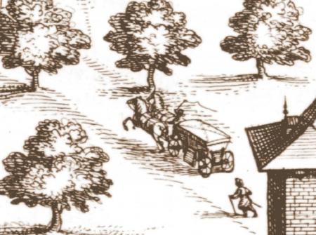 Detail uit: De abdij van Vlierbeek, J. Harrewijn, ca. 1716.