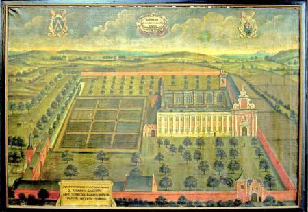 Schilderij naar ets in Sanderus door annoniem 1680