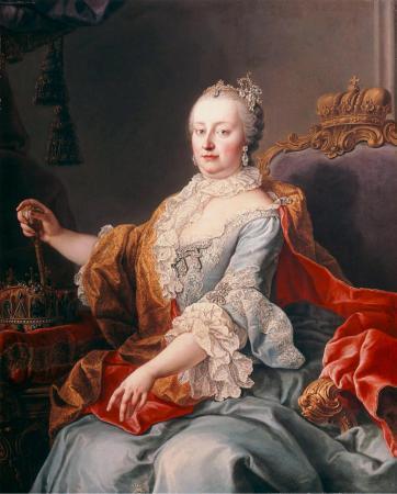 Keizerin Maria-Theresia uit Akademie der bildenden Künste Wien. Martin van Meytens [Public domain], via Wikimedia Commons.