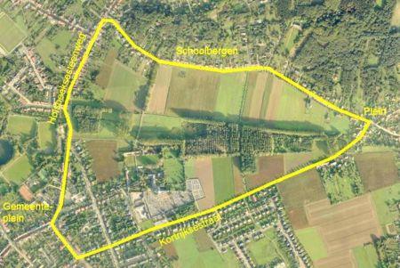 Het domein van Vlierbeek vormde een grote driehoek