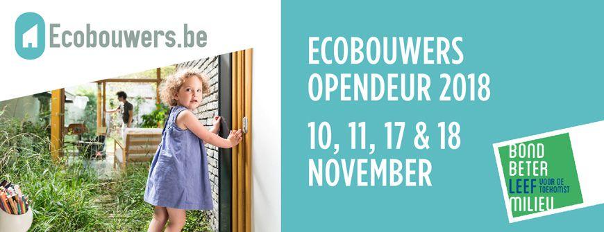 Ecobouwers Opendeur van 10 tot 18 november