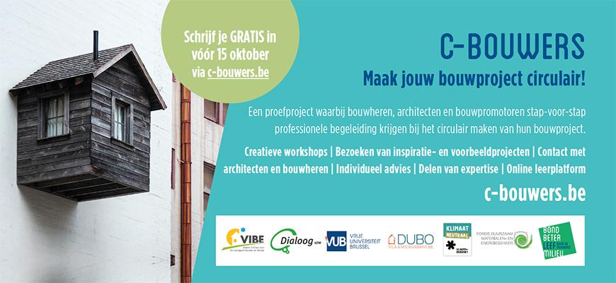 Oproep C-Bouwers: maak je bouwproject circulair