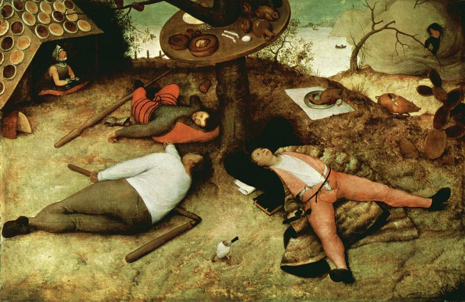 Luilekkerland van Pieter Bruegel de Oude
